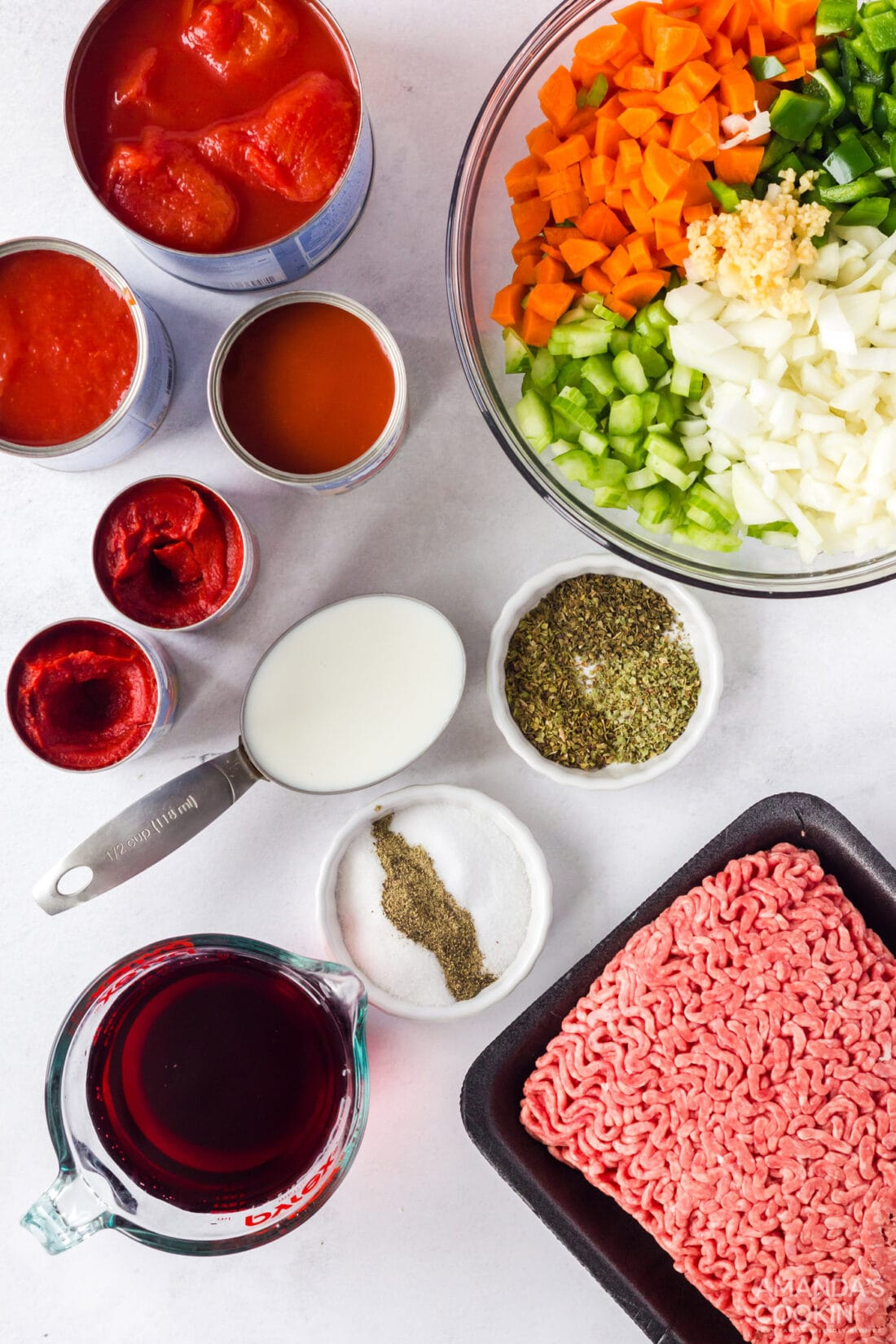 ingredients for bolognese