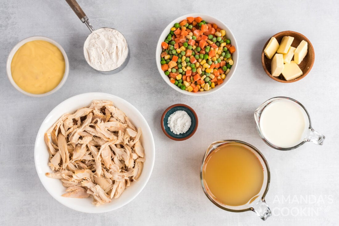 ingredients for chicken and dumpling casserole