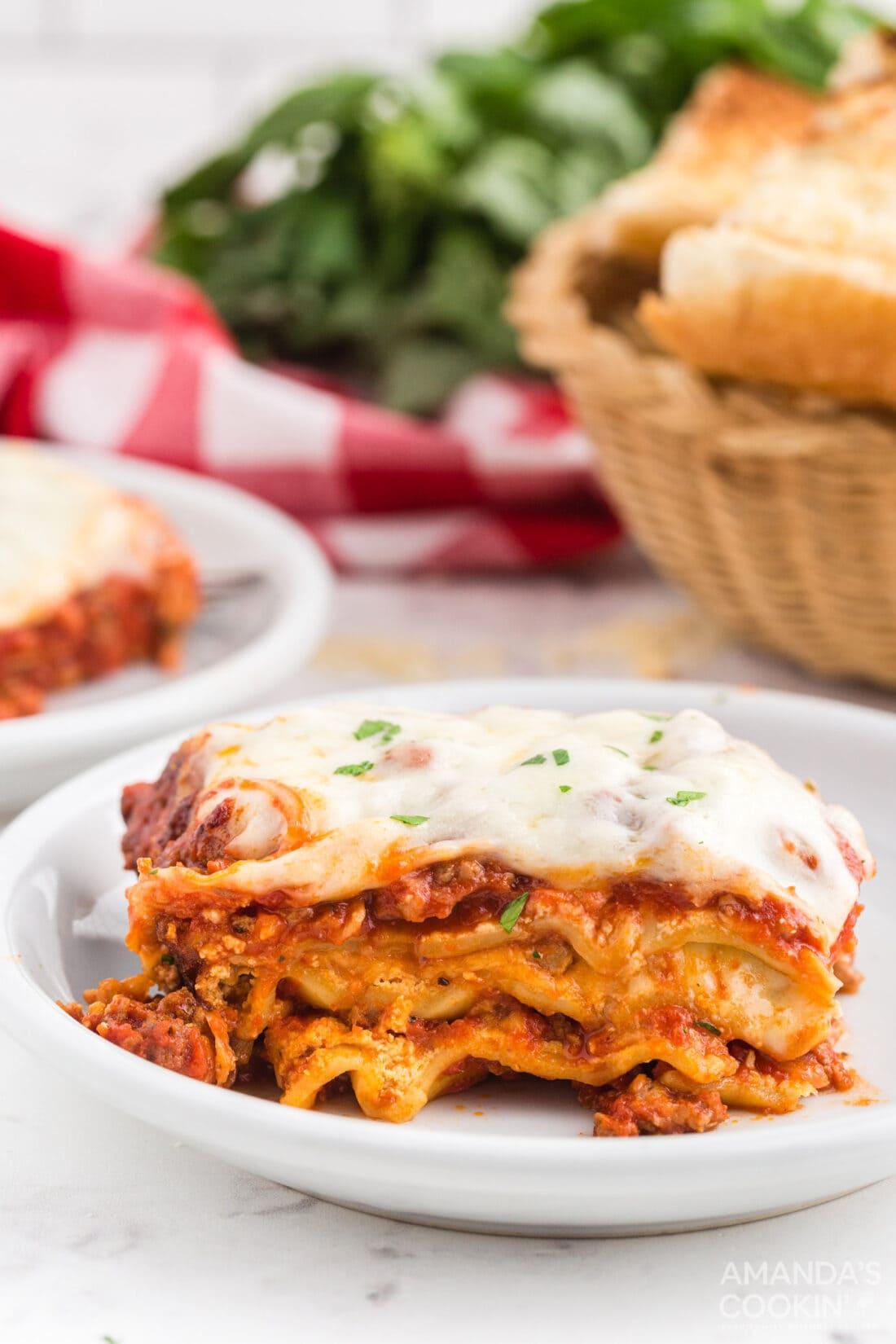 crockpot lasagna on a plate