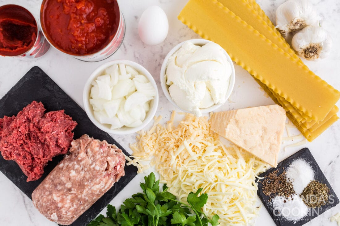 ingredients for crockpot lasagna