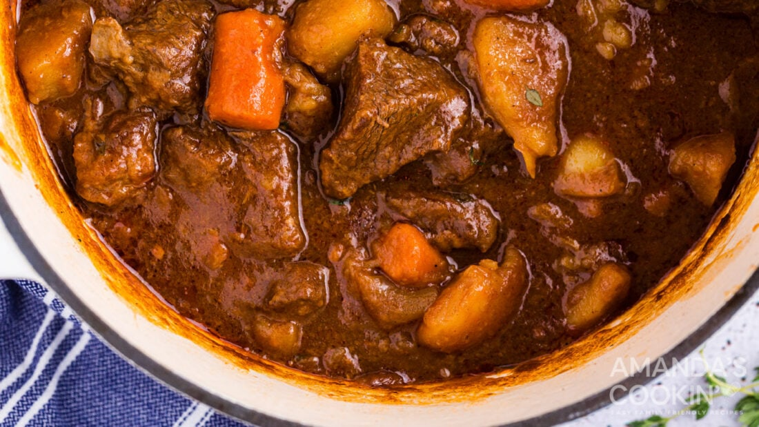 pot of irish beef stew