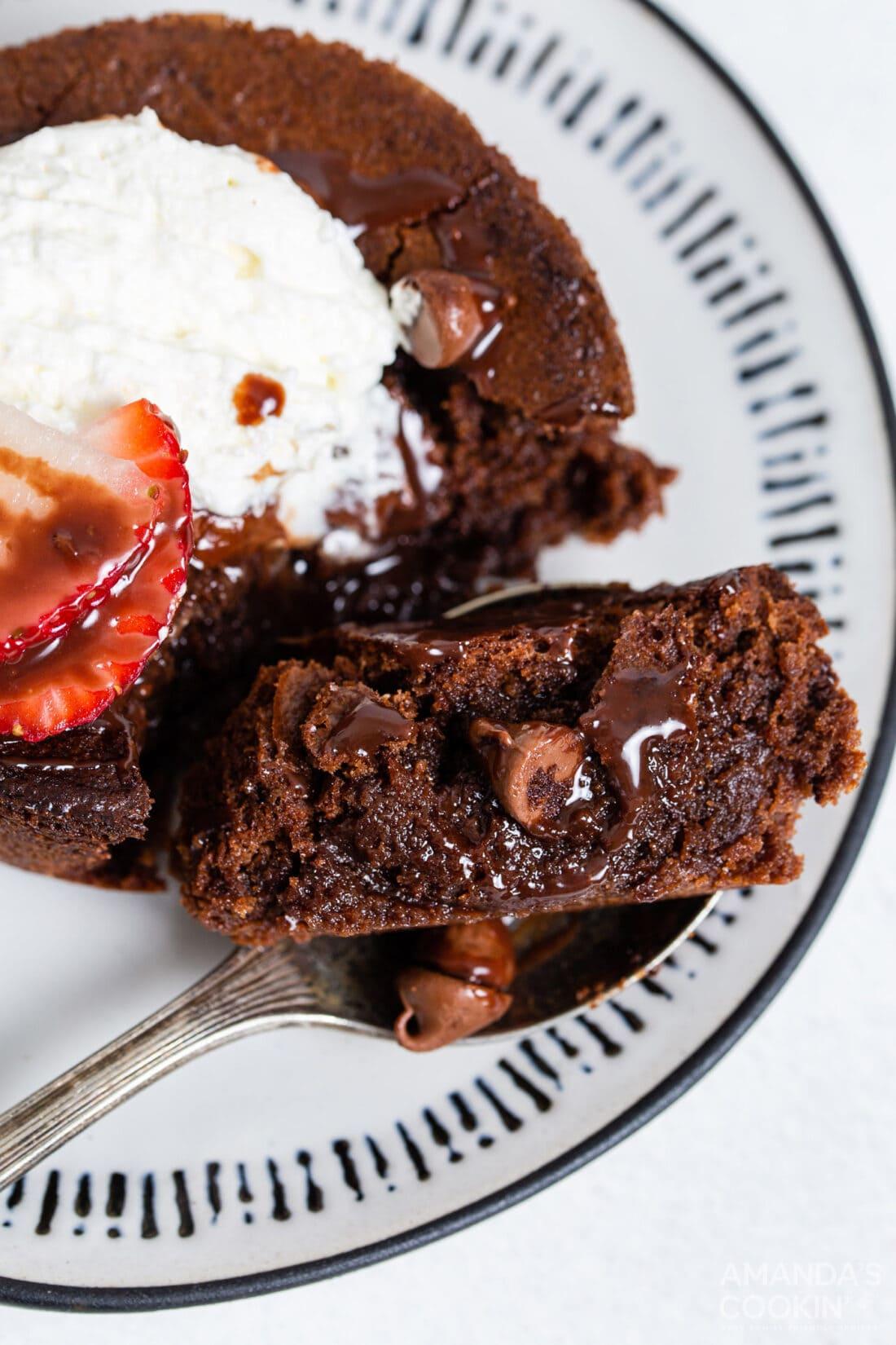 fork full of brownie