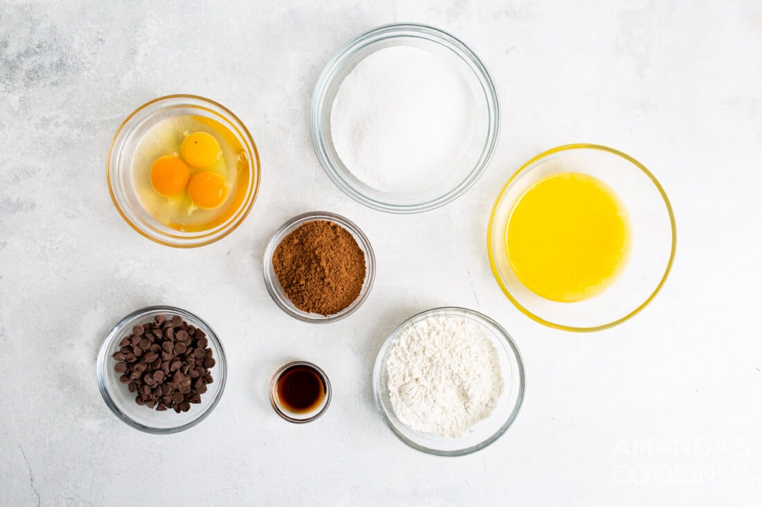 ingredients for air fryer brownies