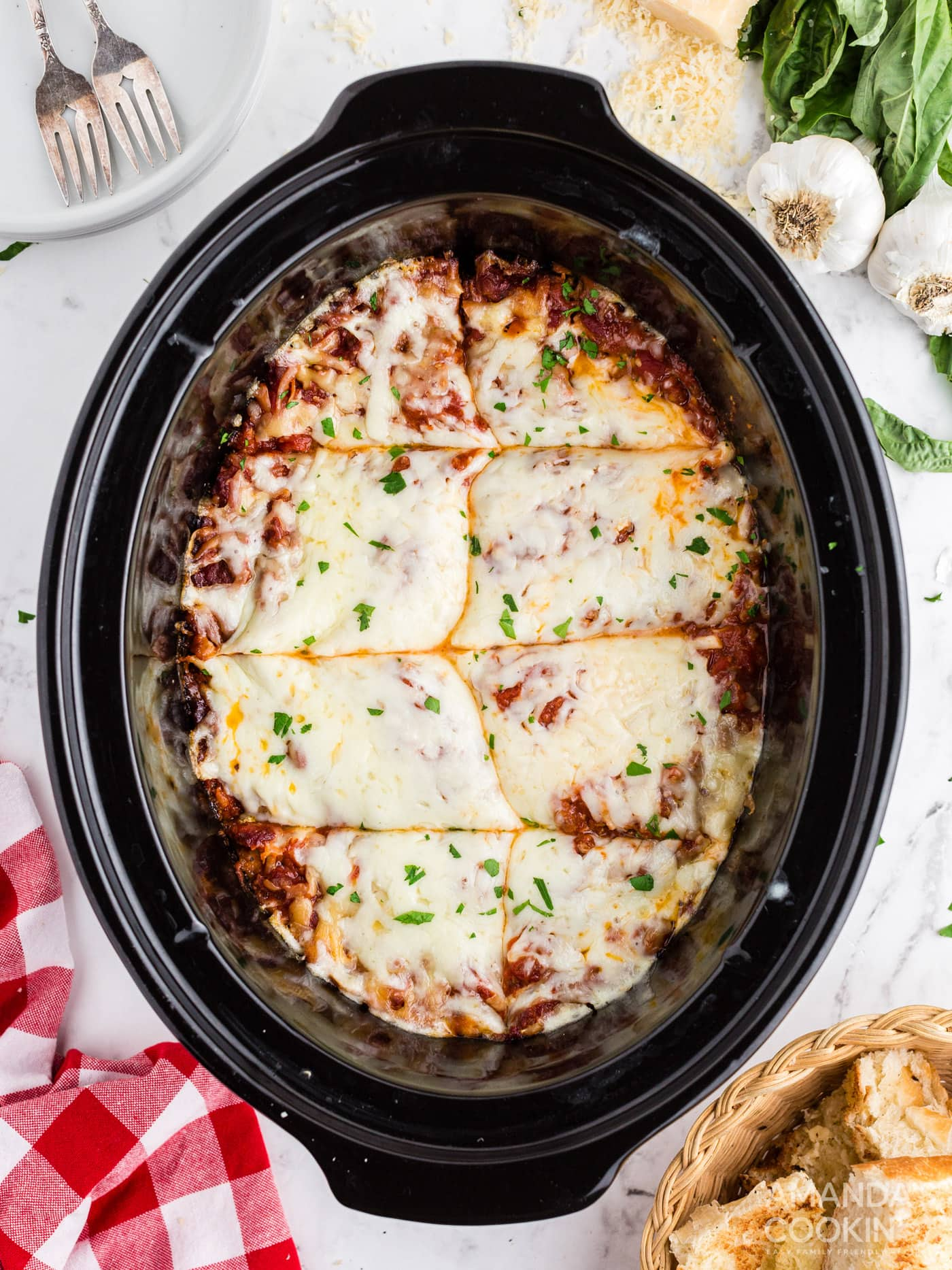 lasagna in the crockpot
