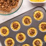 sloppy joe corn muffins in pan