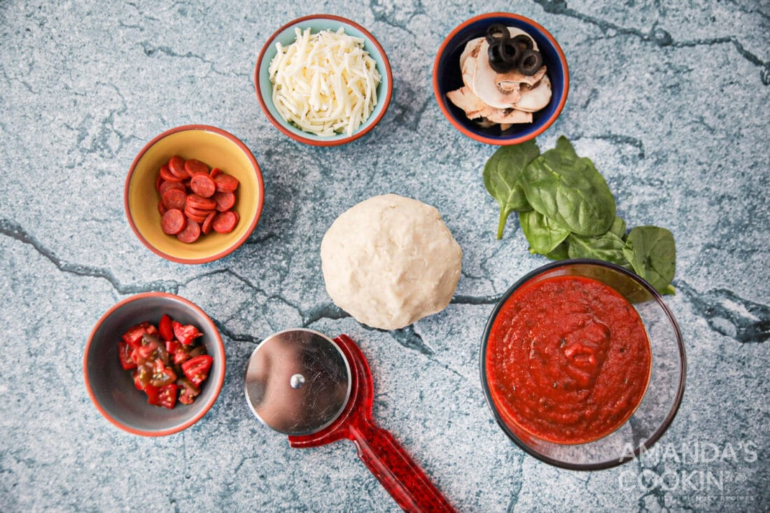 ingredients for Air Fryer Pizza
