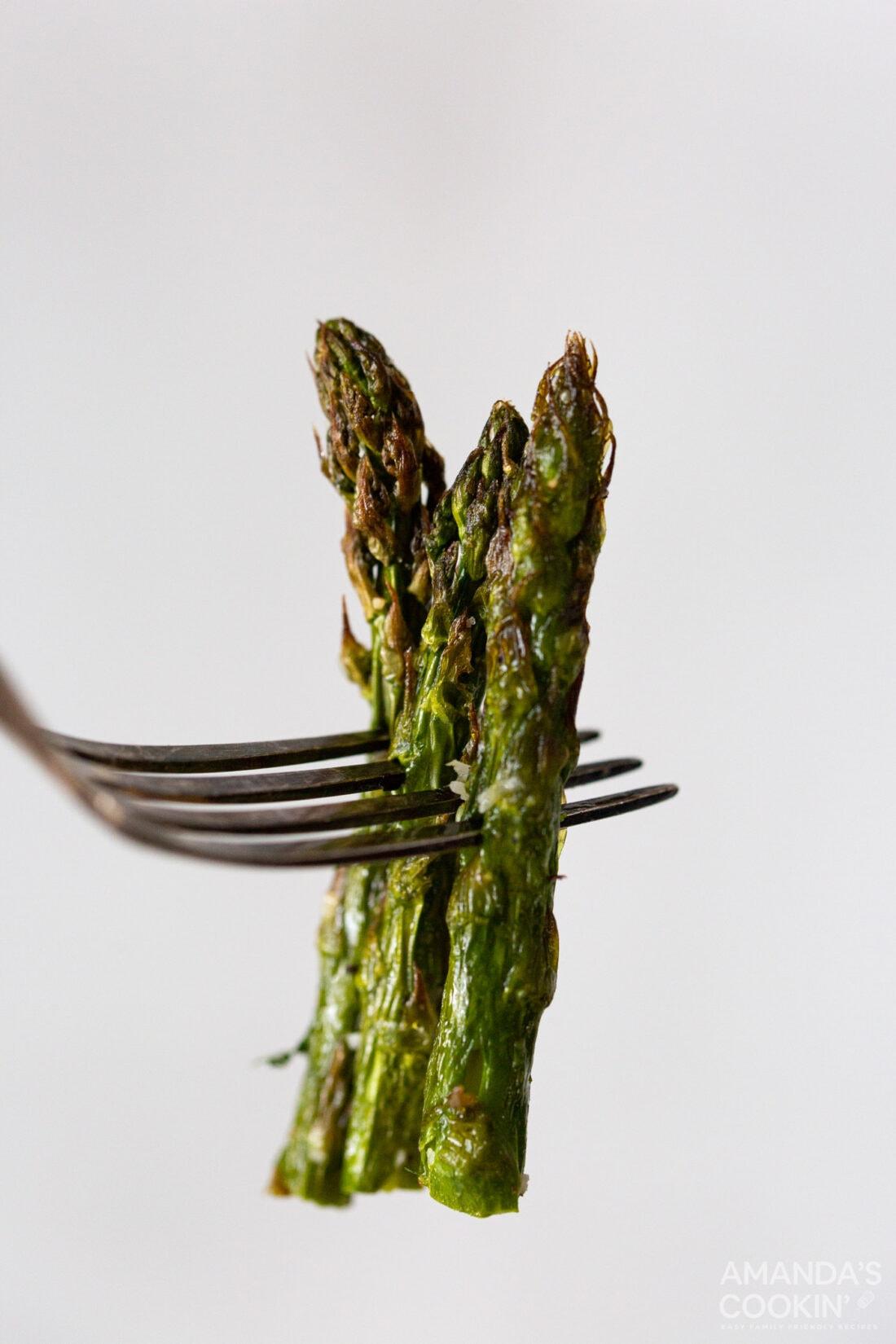 fork of asparagus