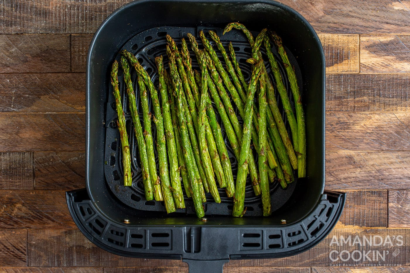 cooked asparagus in the air fryer