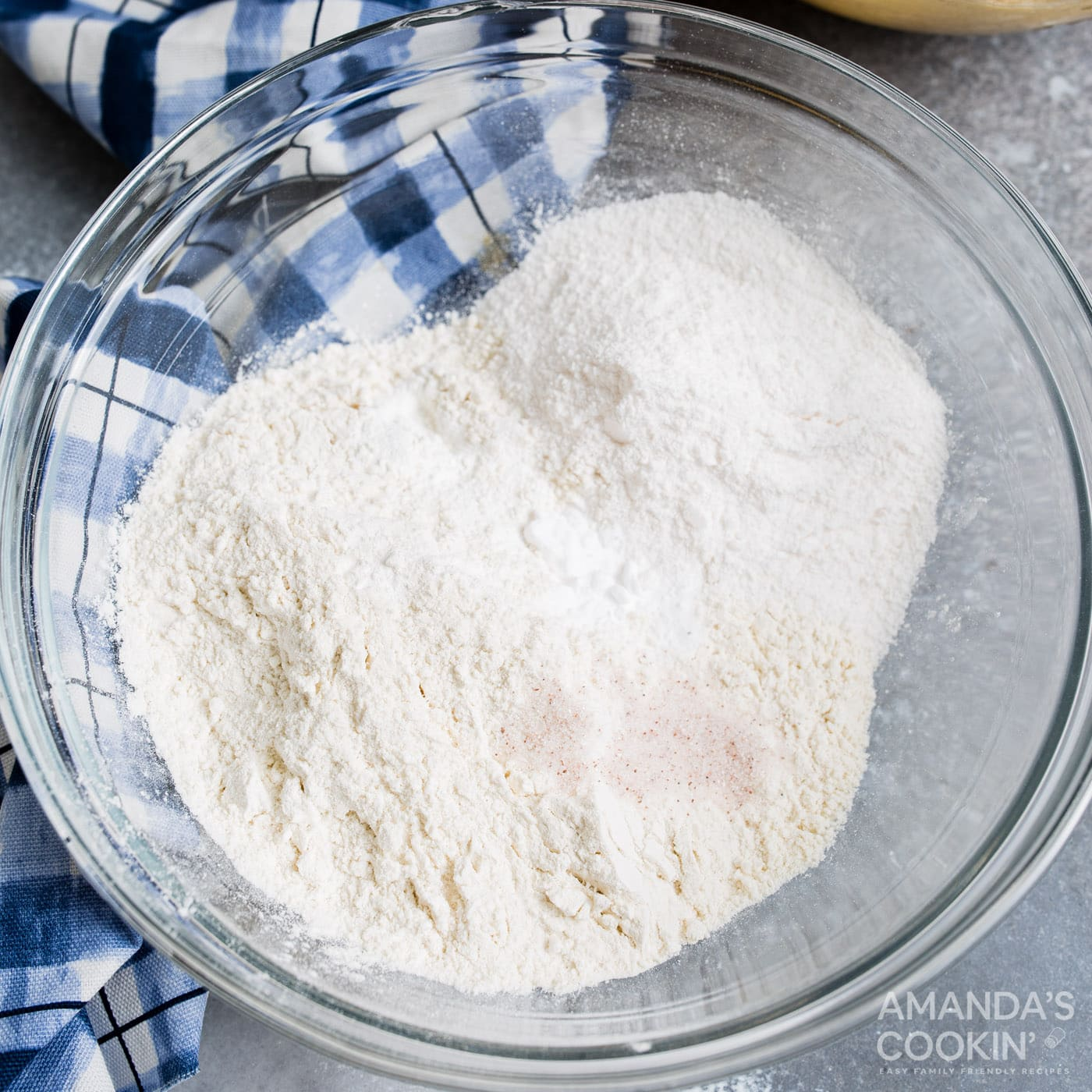dry ingredients in mixing bowl