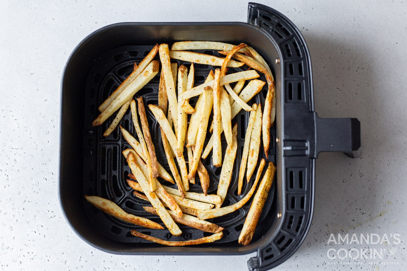 cooked potato slices in air fryer