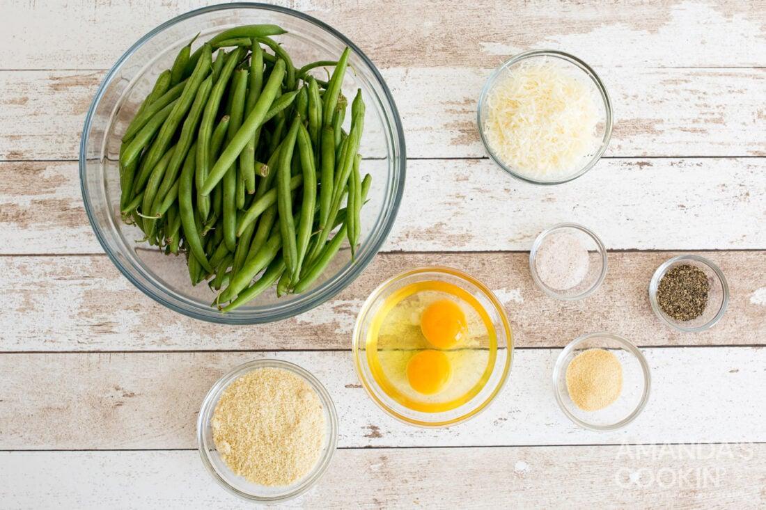 ingredients for making Air Fryer Green Bean Fries