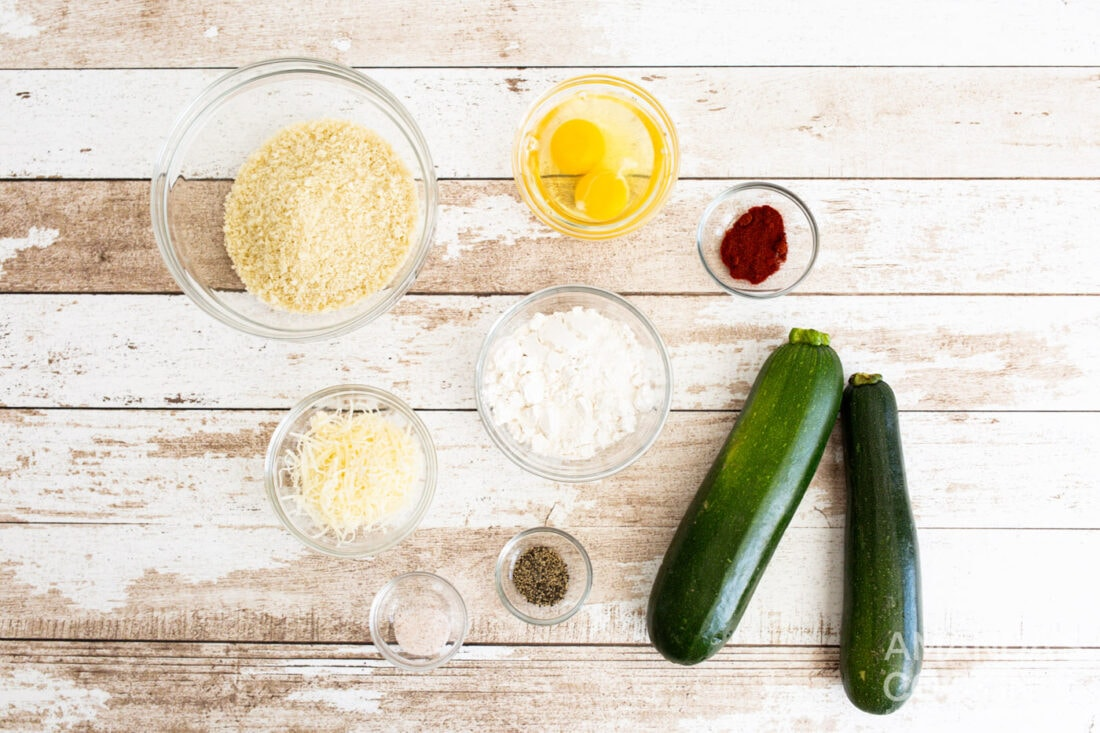 ingredients for air fryer zucchini fries