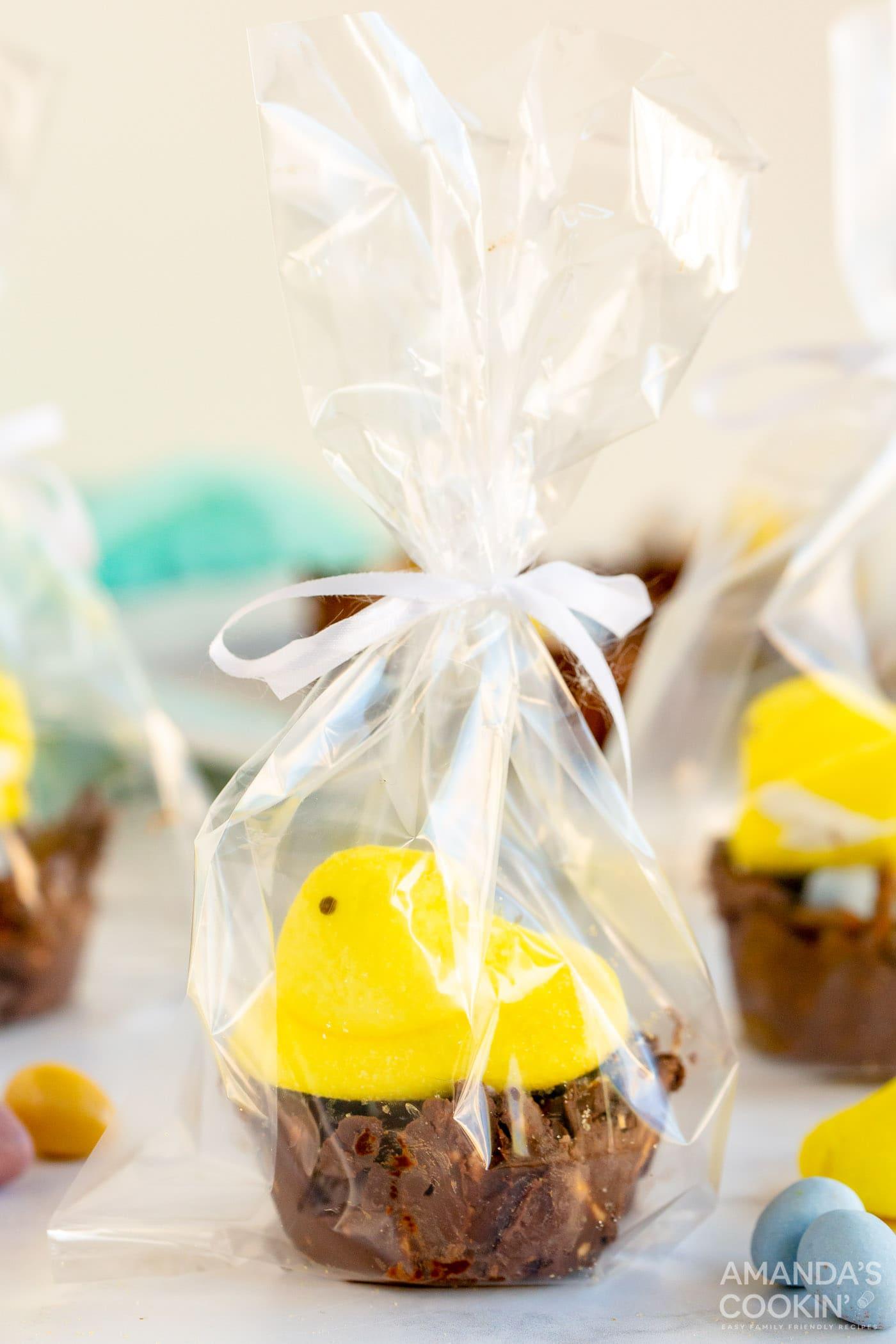 bird nest cookies with Peep