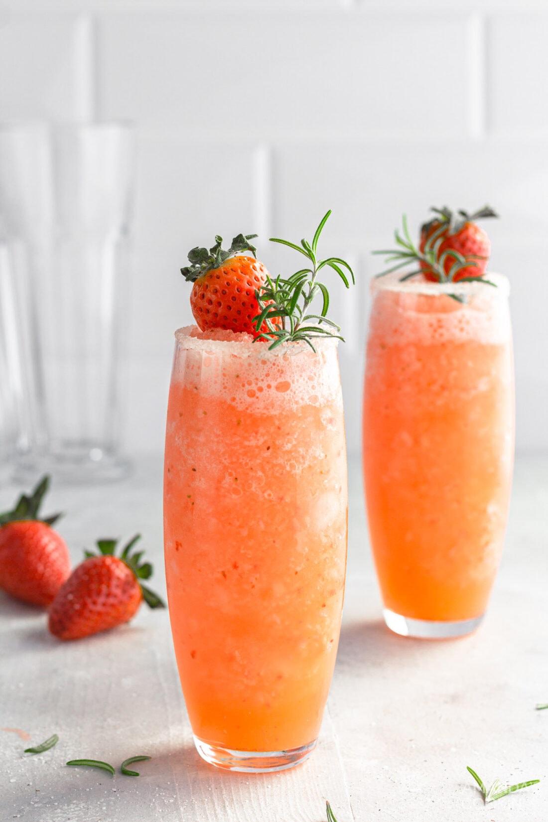Frozen Strawberry Salty Dog Cocktails