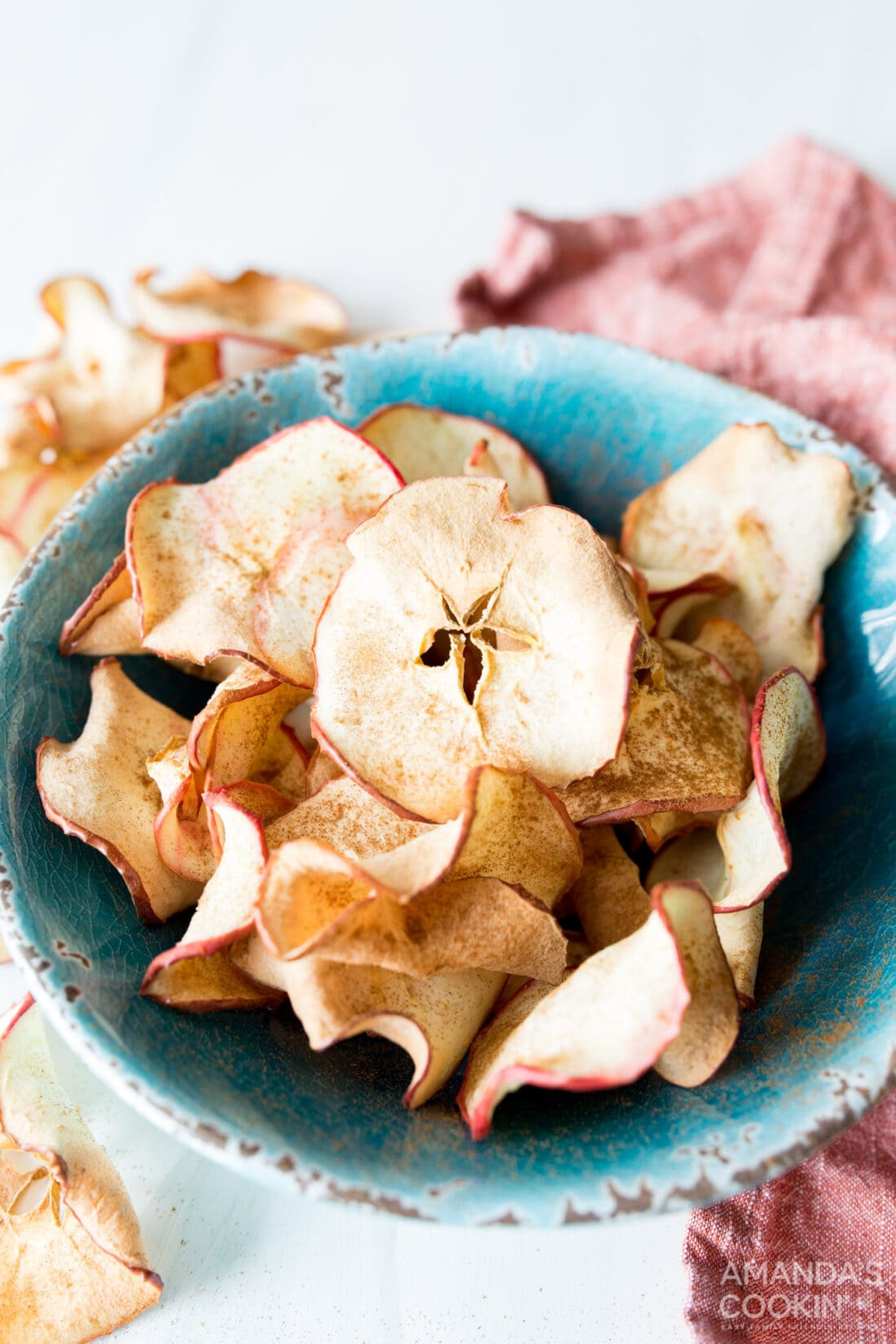 bowl of apple chips