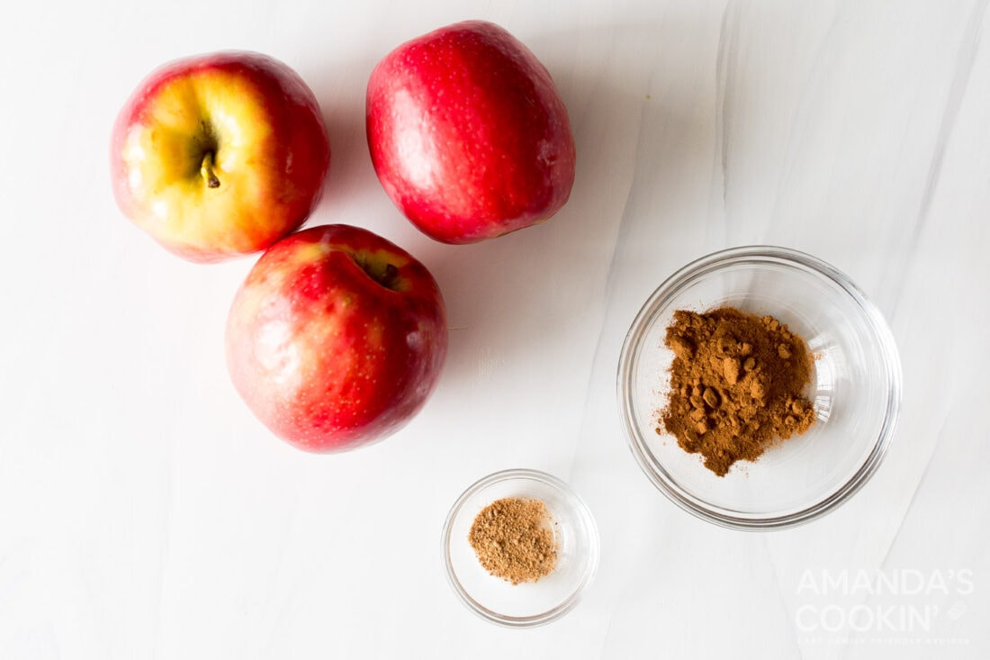 ingredients for making air fryer apple chips