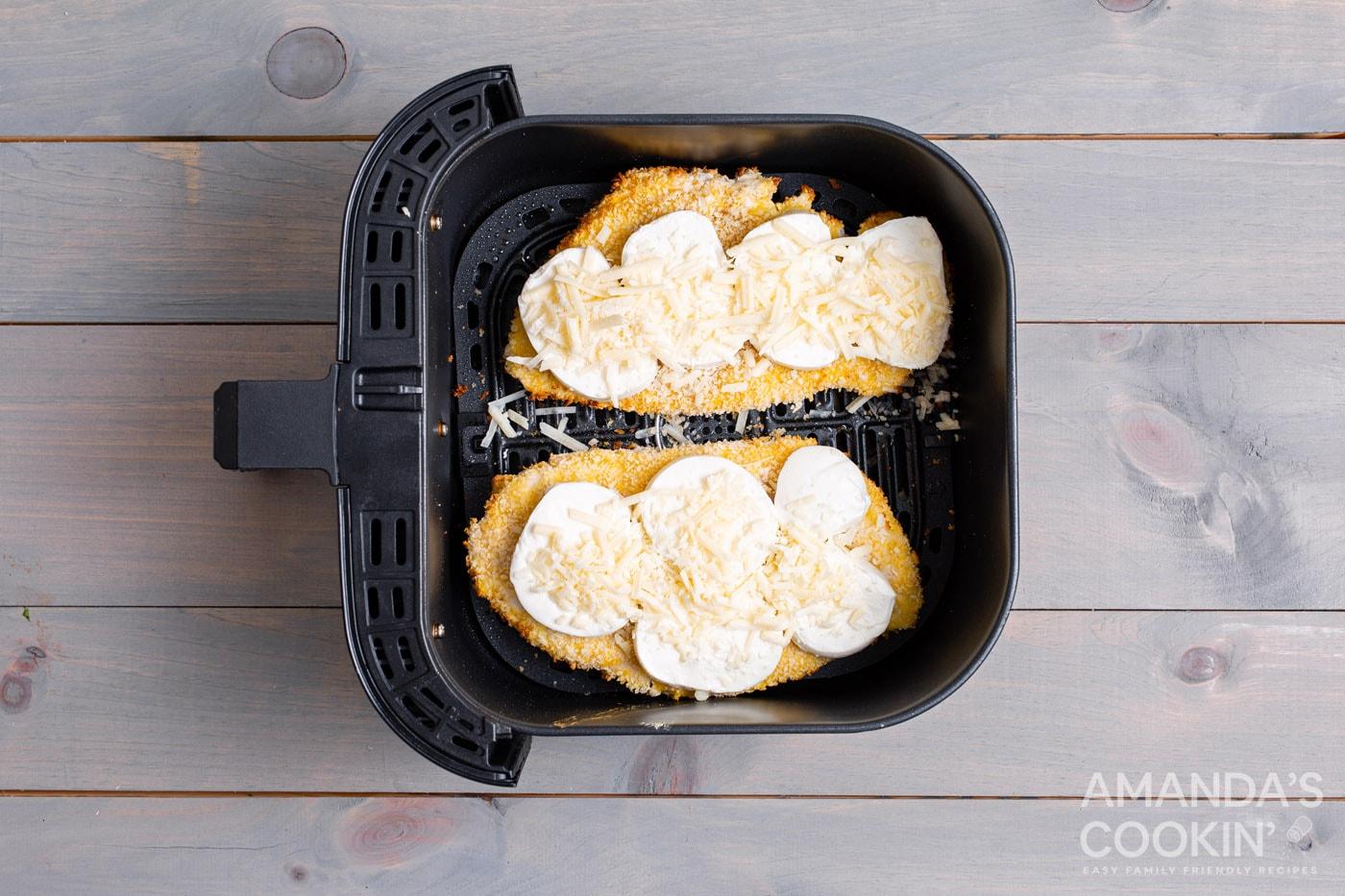 cheese on chicken in air fryer