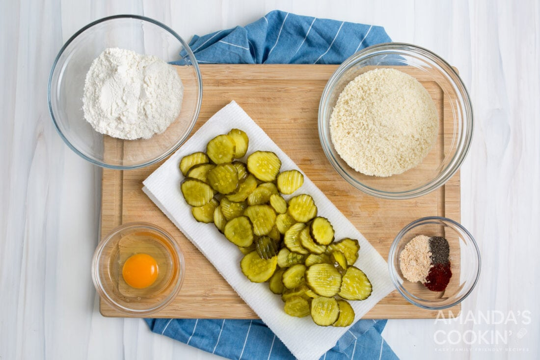 ingredients for making fried pickles in the air fryer