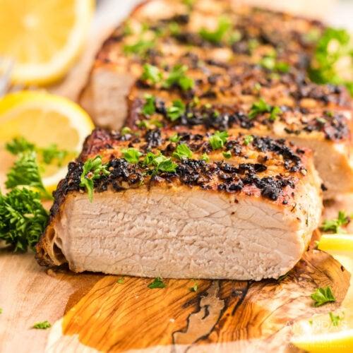 sliced Air Fryer Pork Tenderloin
