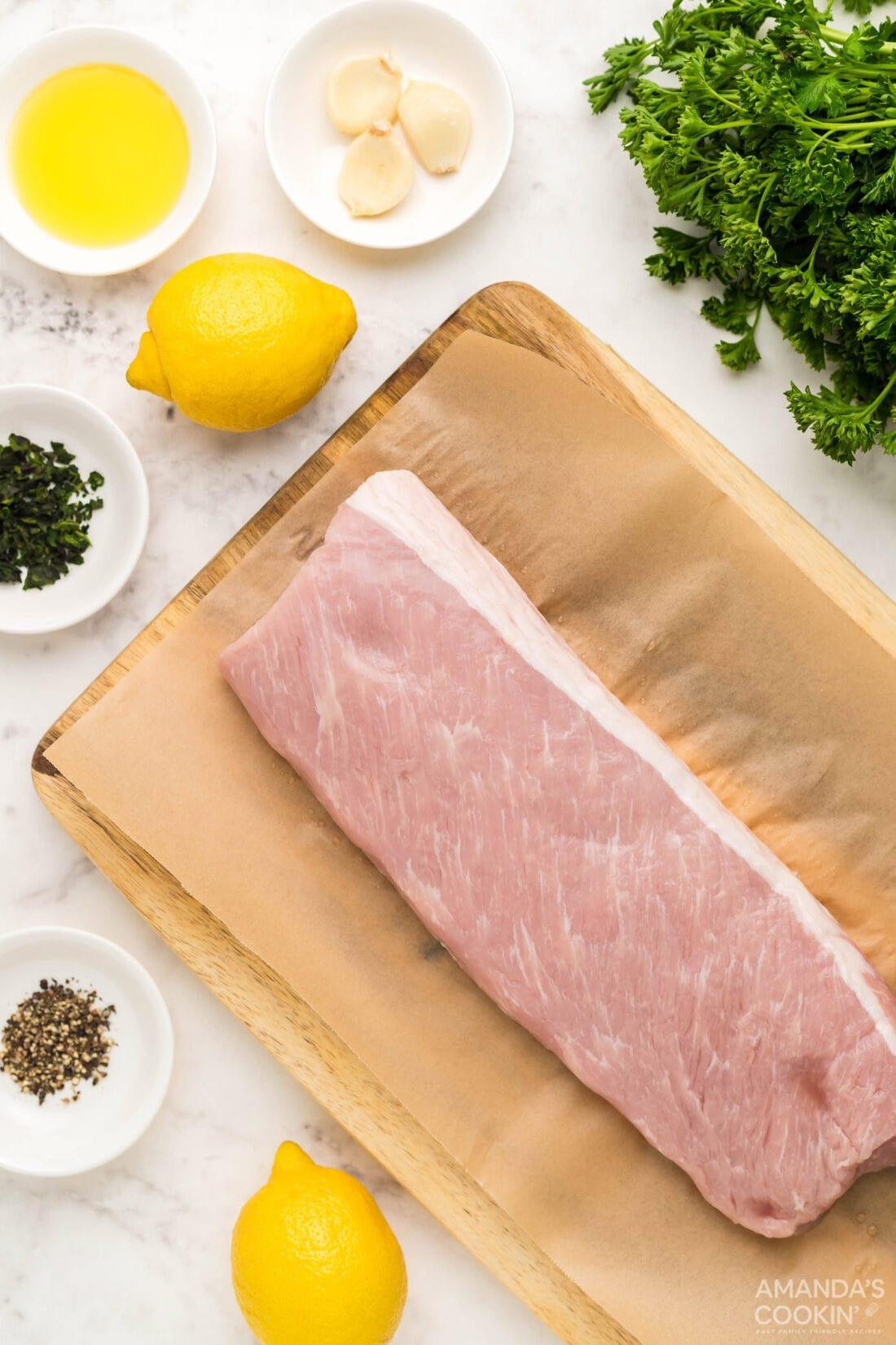 ingredients for Air Fryer Pork Tenderloin