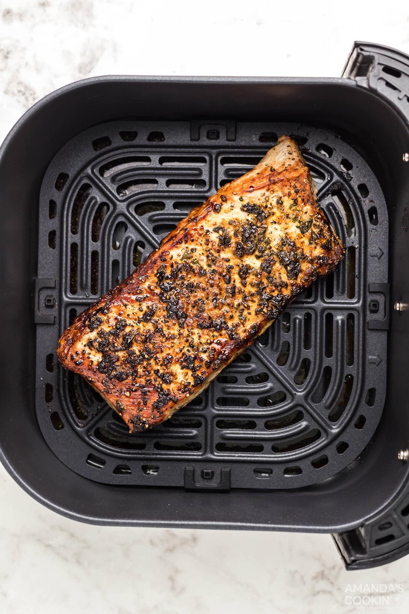 cooked pork tenderloin in the air fryer