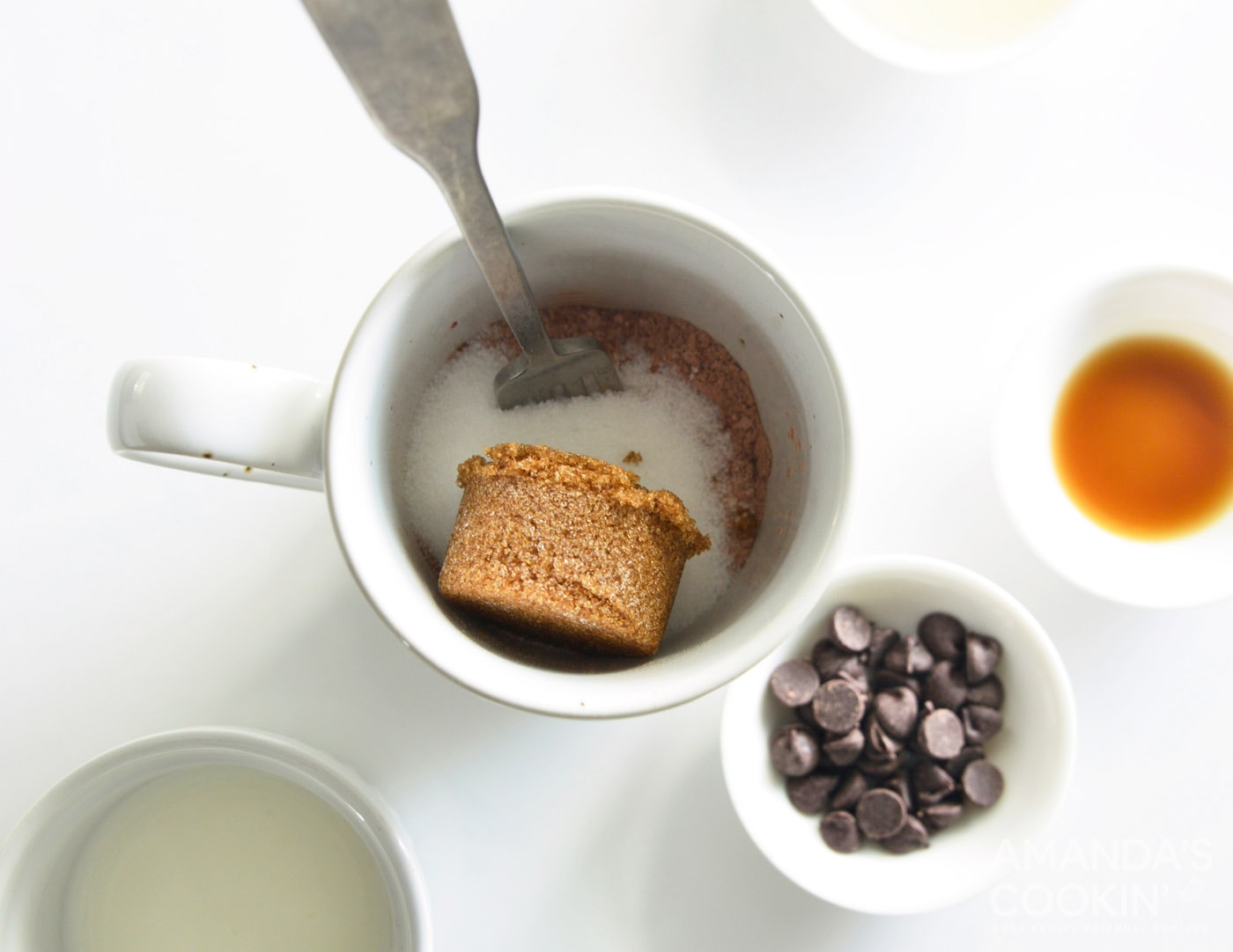 brown sugar in mug