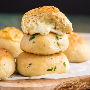 rolls oozing cheese