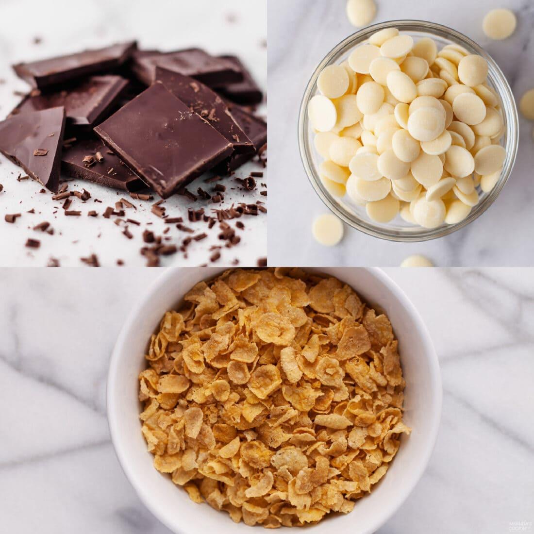 ingredients needed for no bake cornflake cookies