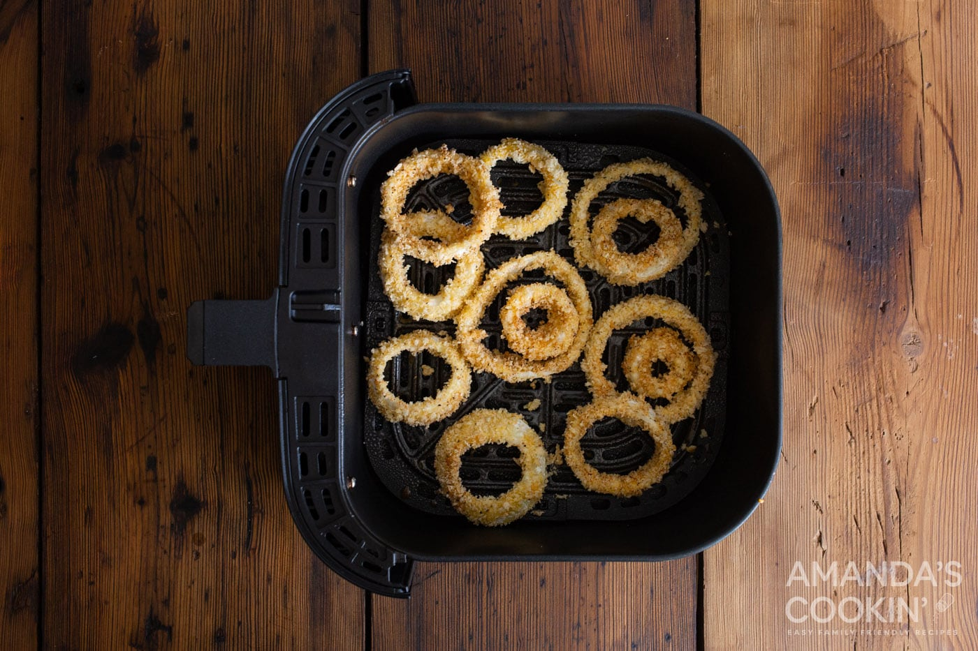 breaded onion rings in the air fryer