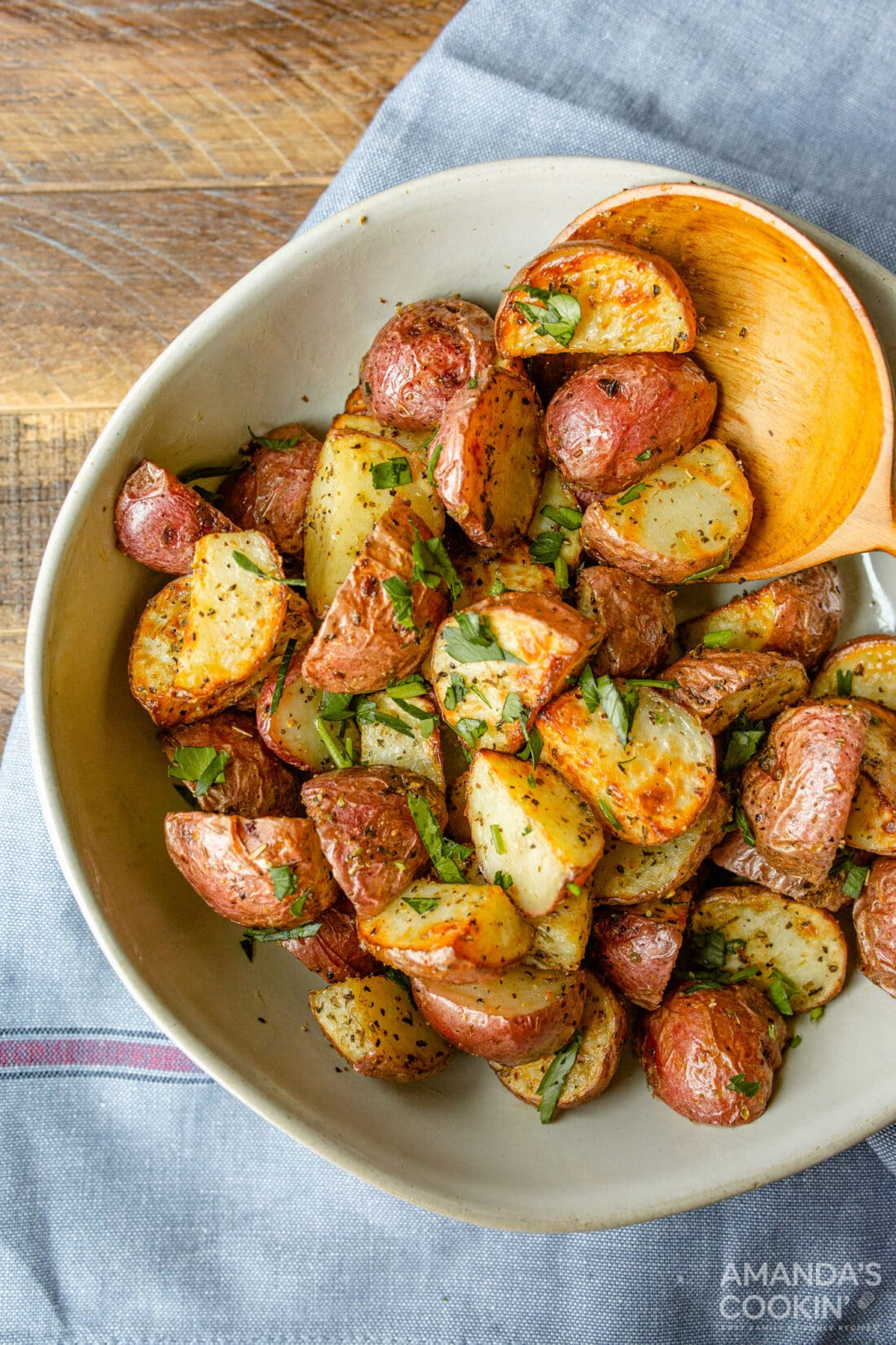 bowl of Air Fryer Roasted Potatoes
