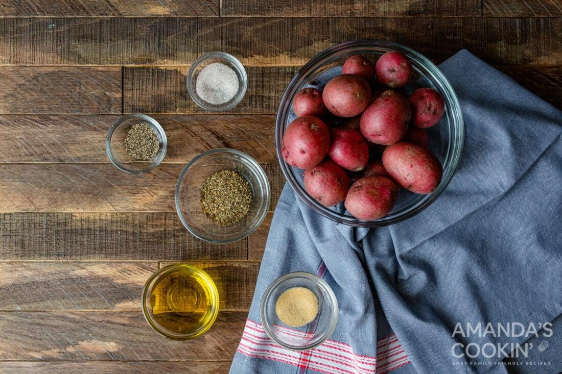 ingredients for Air Fryer Roasted Potatoes