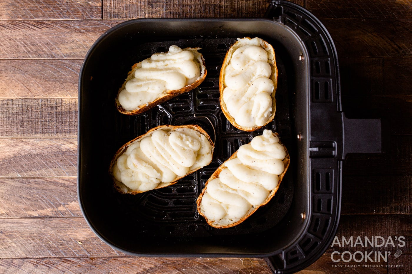 whipped stuffed potatoes in a air fryer