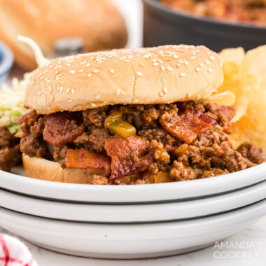 Bacon Sloppy Joes on a plate