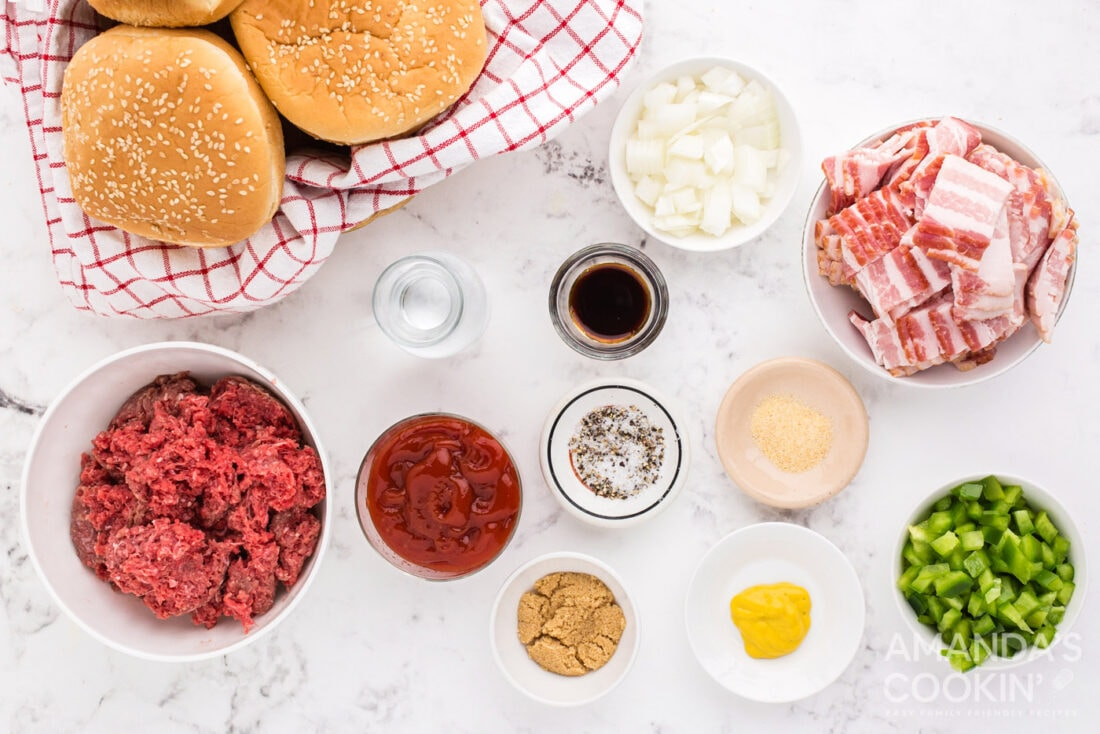 ingredients you need for Bacon Sloppy Joes