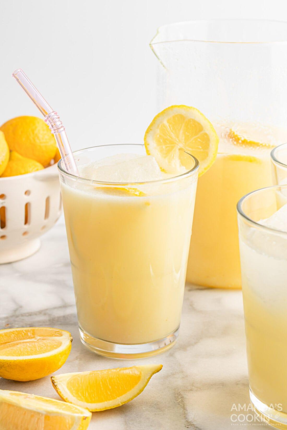 glass of Frozen Lemonade