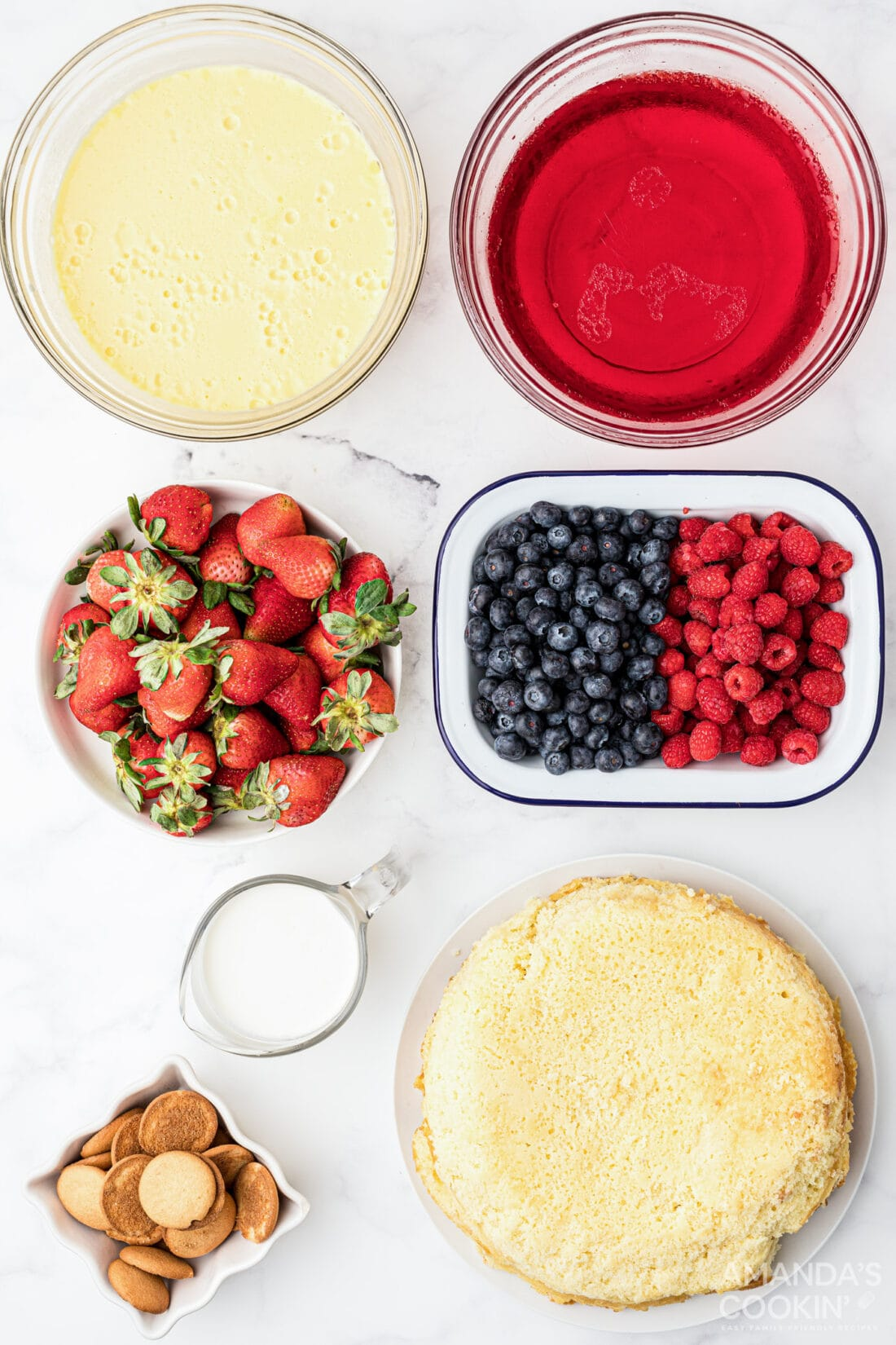 ingredients for jello trifle