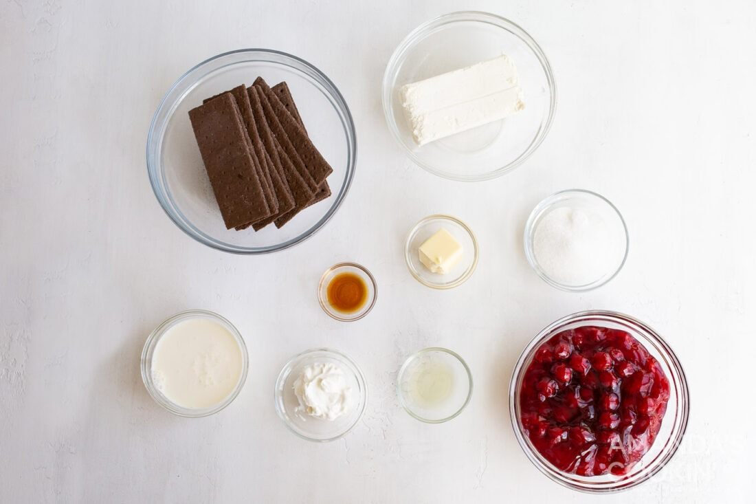 ingredients for mini cheesecakes