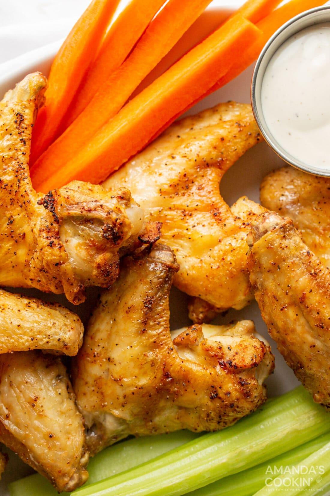 Air Fryer Chicken Wings in a basket