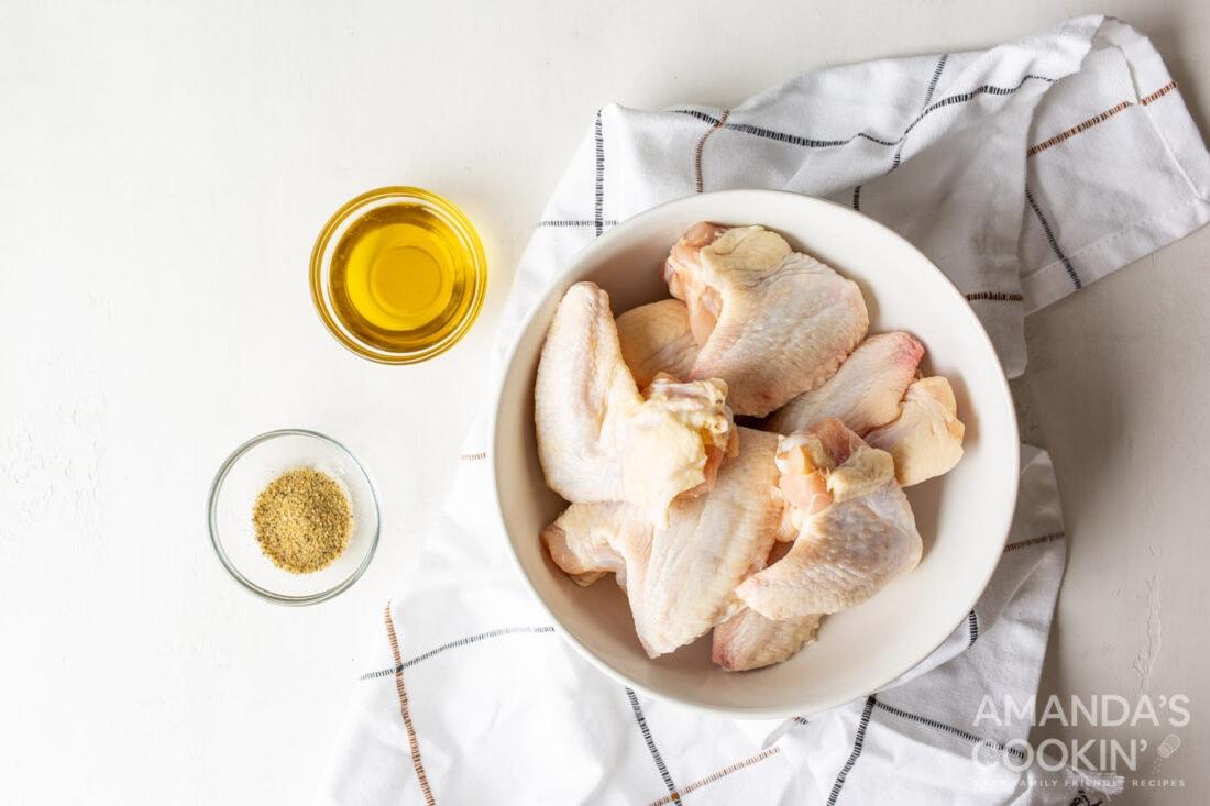 ingredients for Air Fryer Chicken Wings