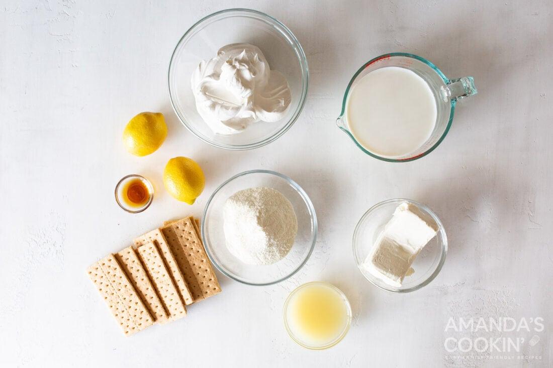 ingredients for lemon icebox cake