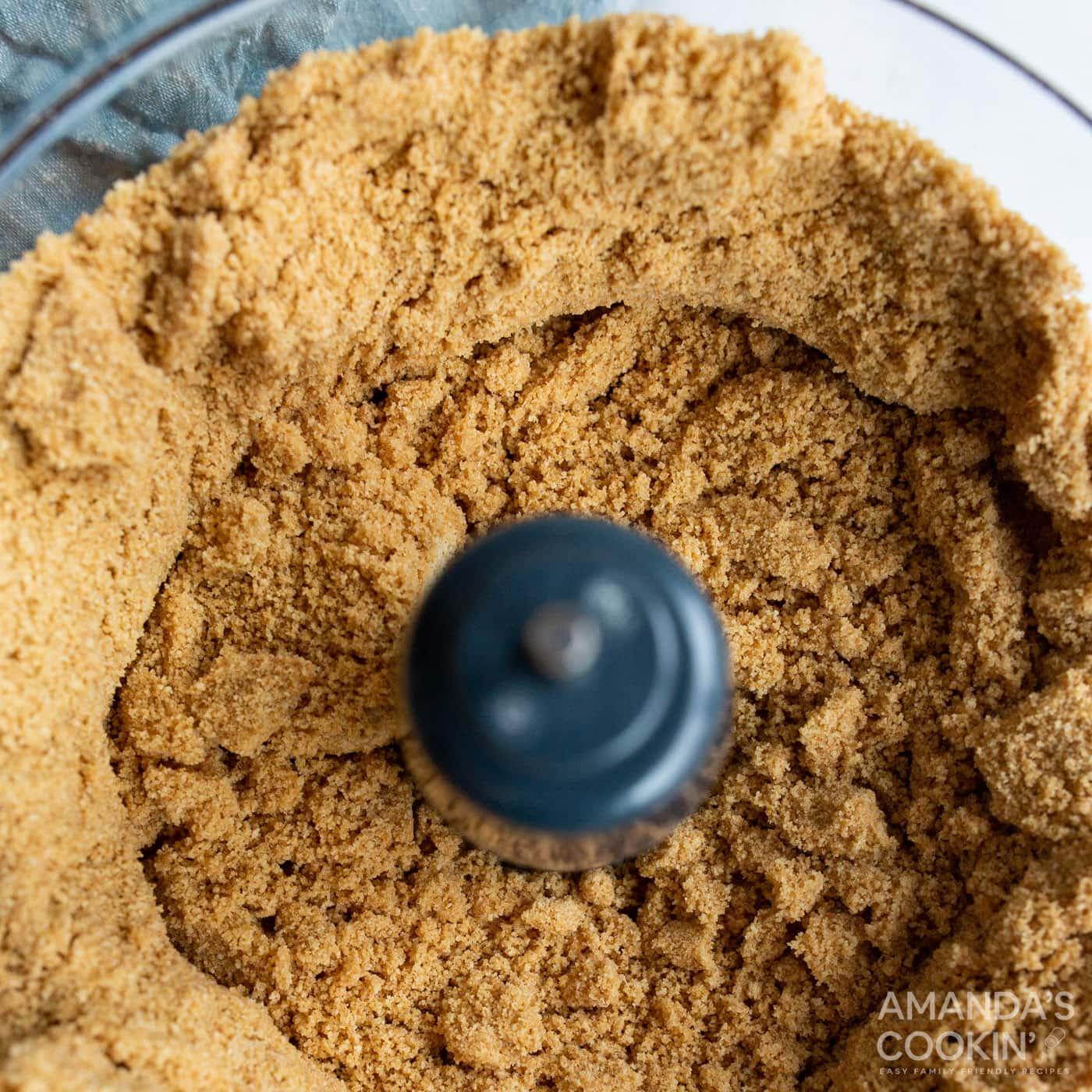 graham cracker in food processor