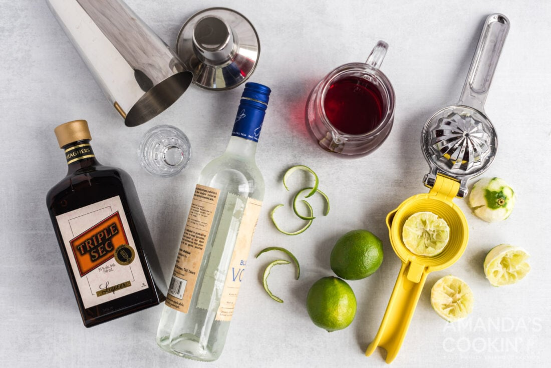 ingredients to make a cosmo