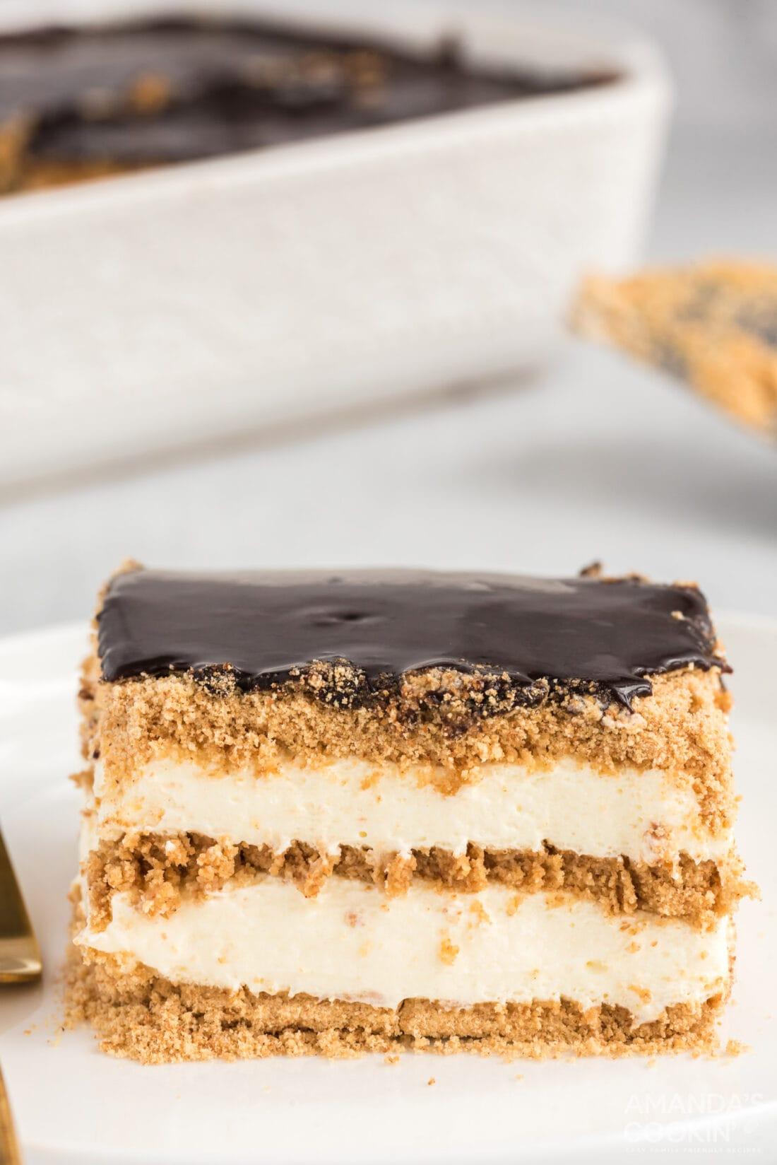 slice of eclair cake