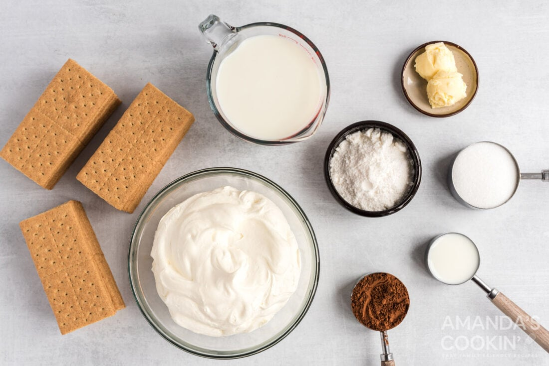 ingredients needed to make eclair cake