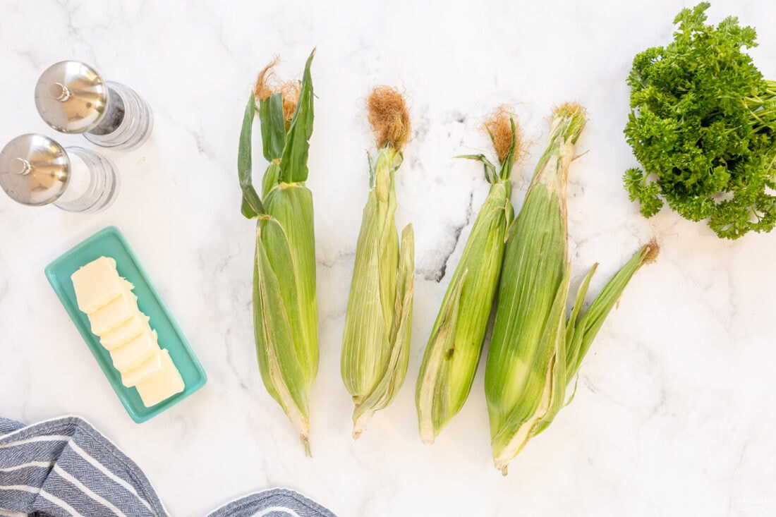 ingredients for Grilled Corn on the Cob