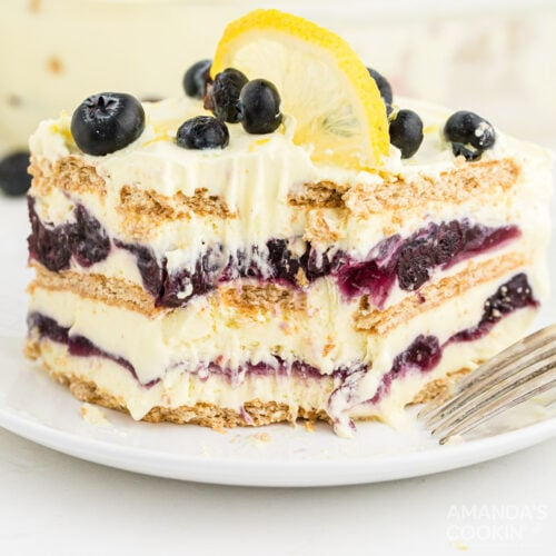 Lemon Blueberry Icebox Cake