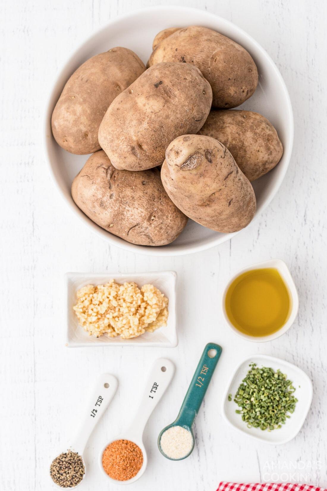 ingredients to make Potato Wedges