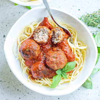 Spaghetti & Meatballs in Marinara