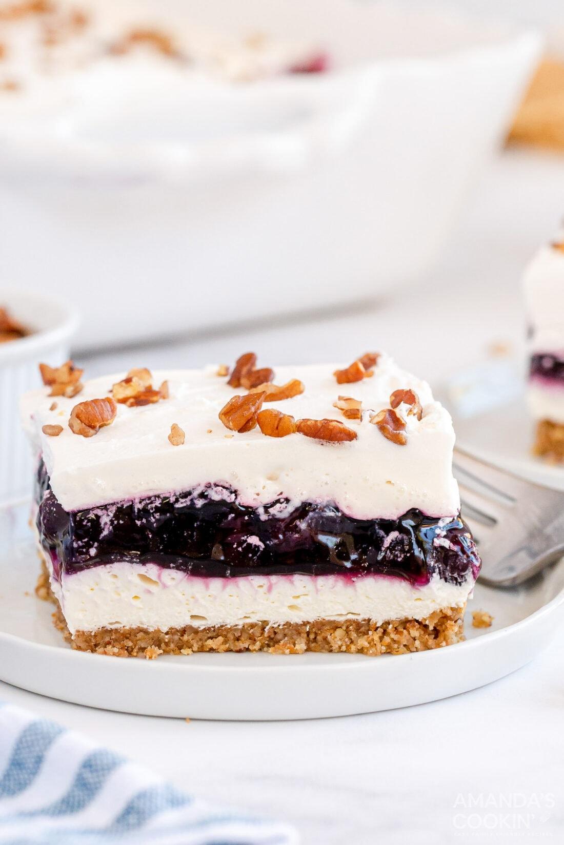 slice of blueberry lush