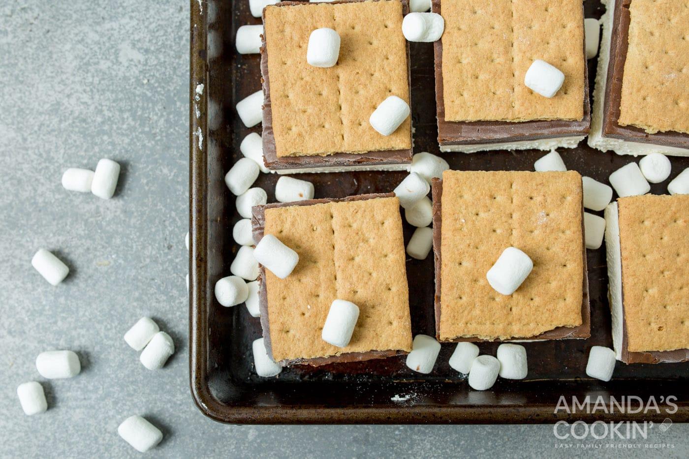 frozen smores with marshmallows